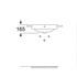 Roca Debba Semi Recessed Basin - dimensions drawings