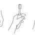Etac Multipurpose Grip - line drawings of possible uses - nail file, toothbrush, key holder