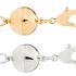 Silver and Gold magnetic clasps (oval shape)