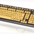 Whole keyboard. Yellow keys, black text